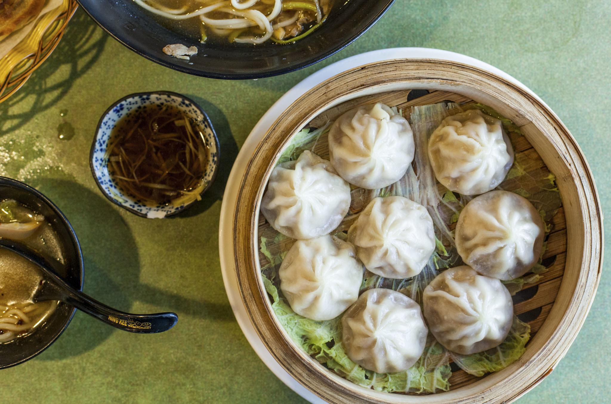 Shanghai-style soup dumplings at Hing Kee