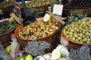 Generic deli olives display