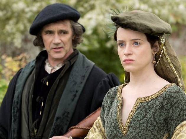 Claire Foy and Mark Rylance in Wolf Hall