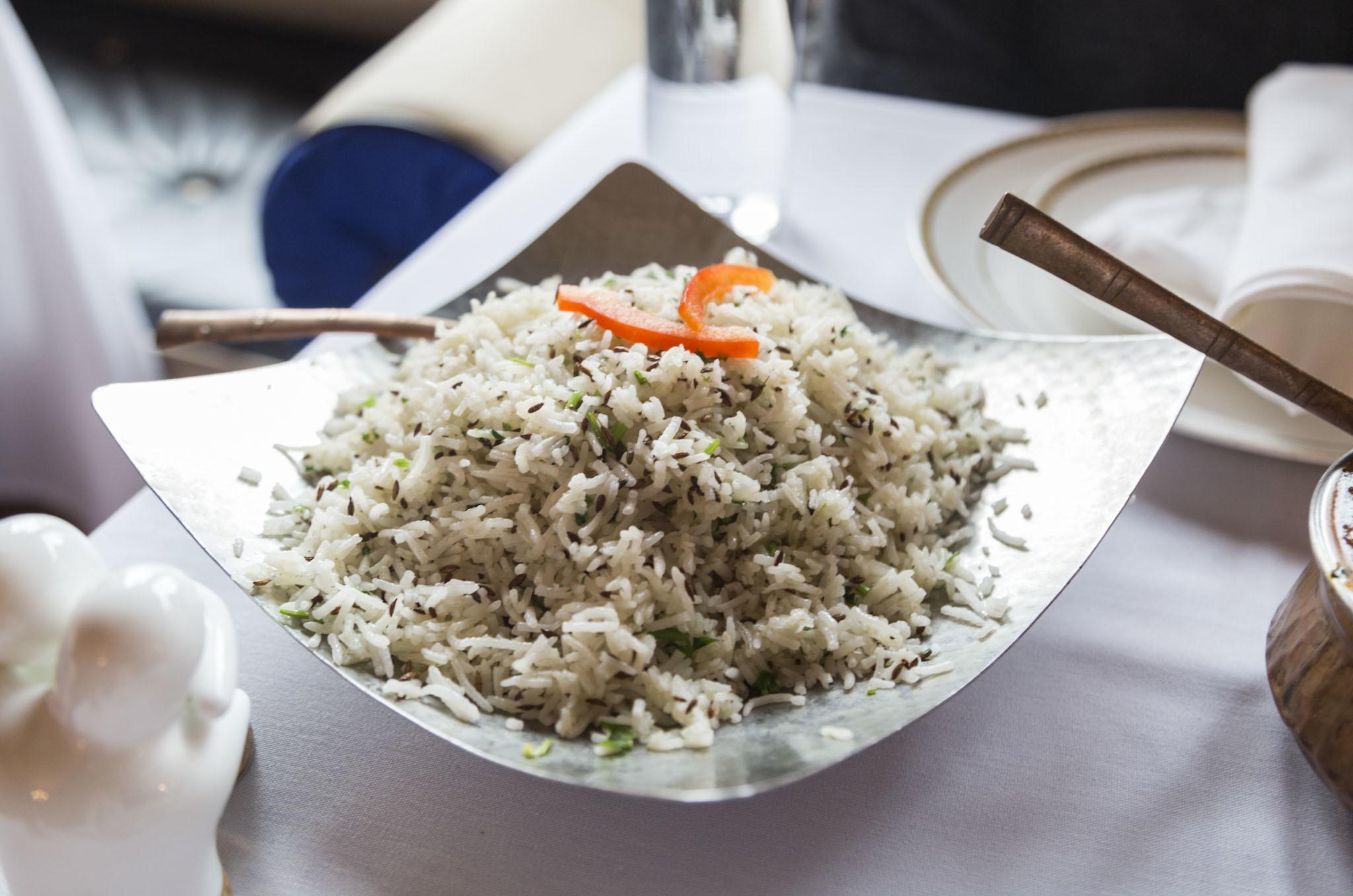 Jeera rice at Jaipur