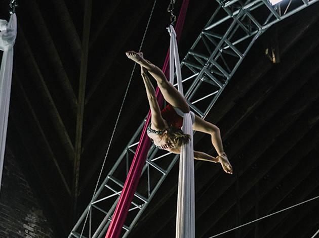Aerial Silks at Aloft Loft