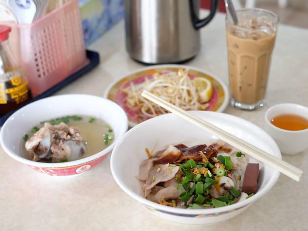 Battambang dishes on a table