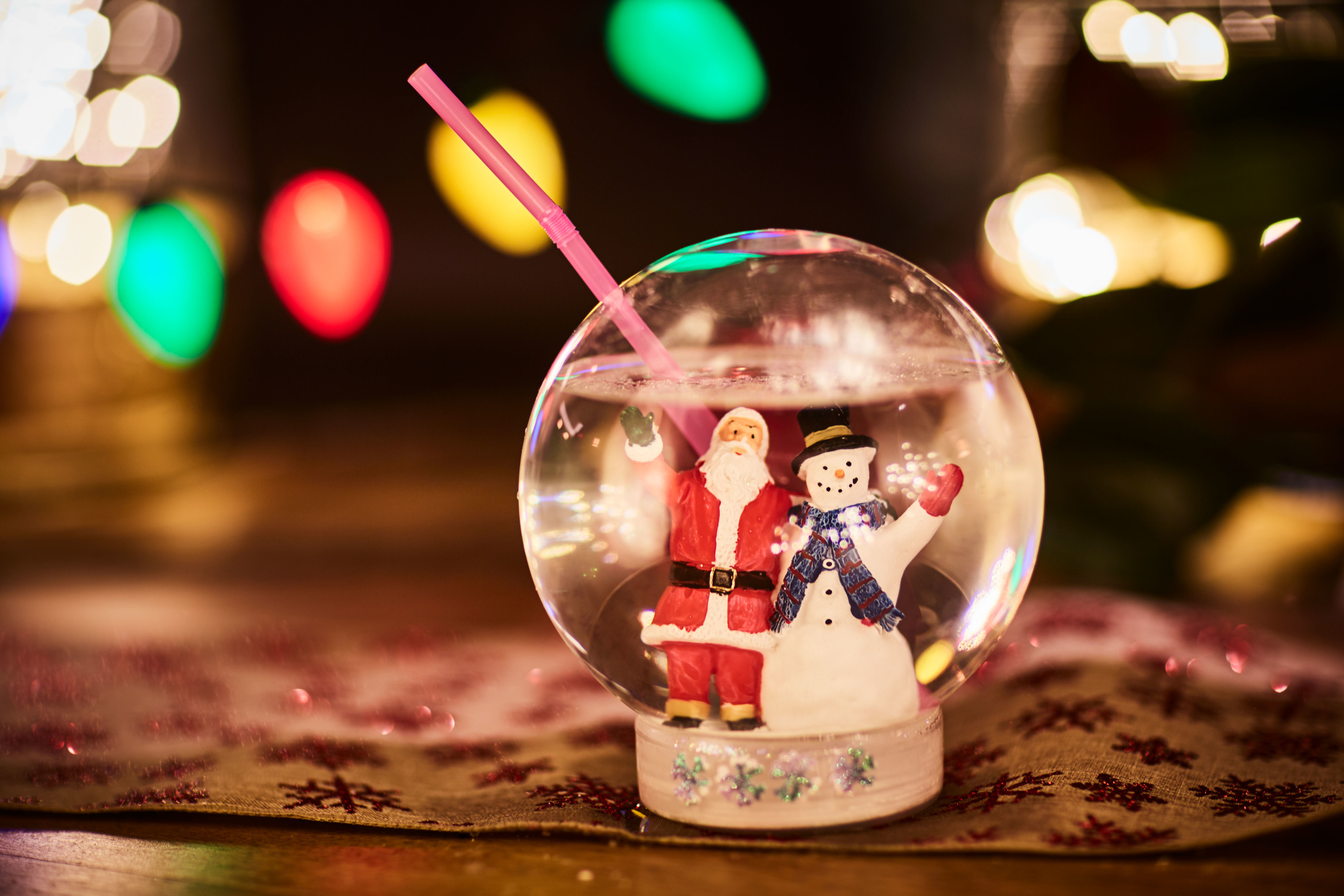 Drink a cocktail from a snow globe at this holiday pop-up bar