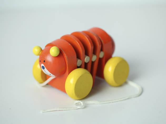 Toy with pull string