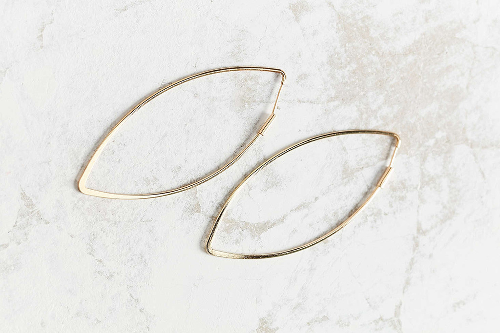 Urban Outfitters Delicate Geo Hoop Earrings