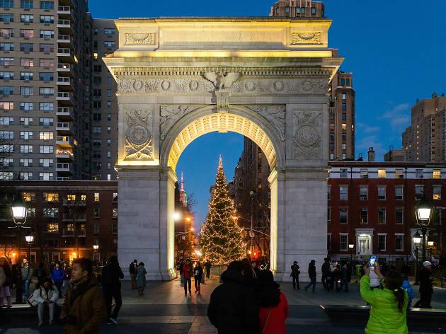 The Washington Square Park Christmas Tree Lighting Ceremony is tonight!