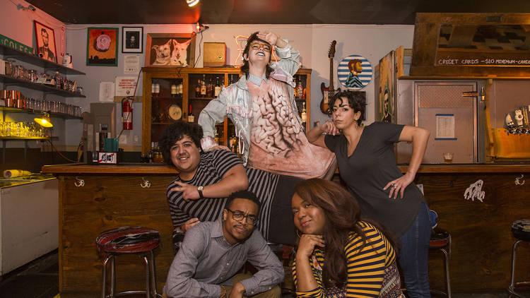 Clockwise from left: Sammy Arechar, Sarah Sherman, Alex Kumin, Rebecca O'Neal, Joel Boyd