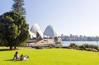 Royal Botanic Gardens overlooking Sydney Opera House