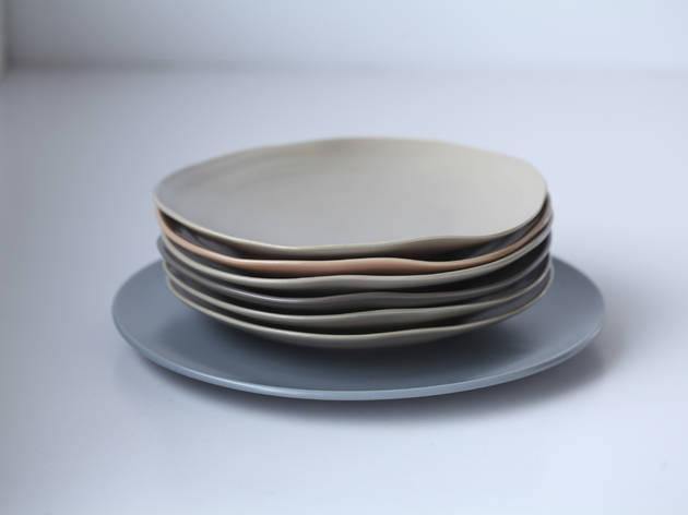 IKEA grey-blue plate, IKEA plates