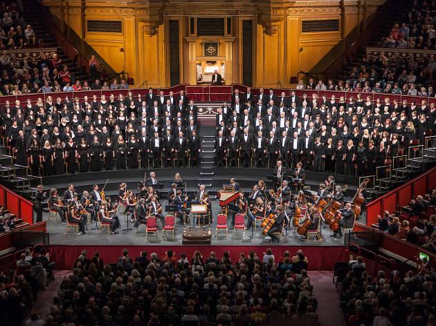 Watching a Christmas concert at the Royal Albert Hall