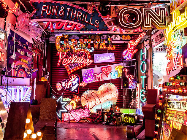 God's Own Junkyard is lighting up central London with its iconic neon for one night only