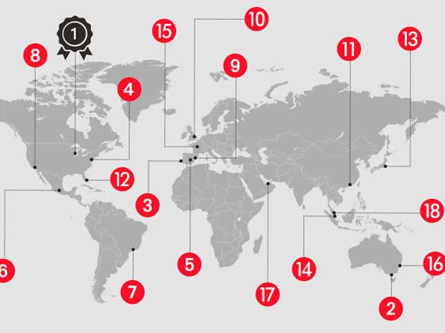 タイムアウトの都市ランキング、結果発表