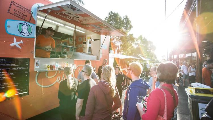 South Melbourne Night Market food trucks