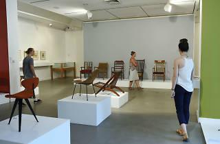 People walking around inside Penrith Regional Gallery