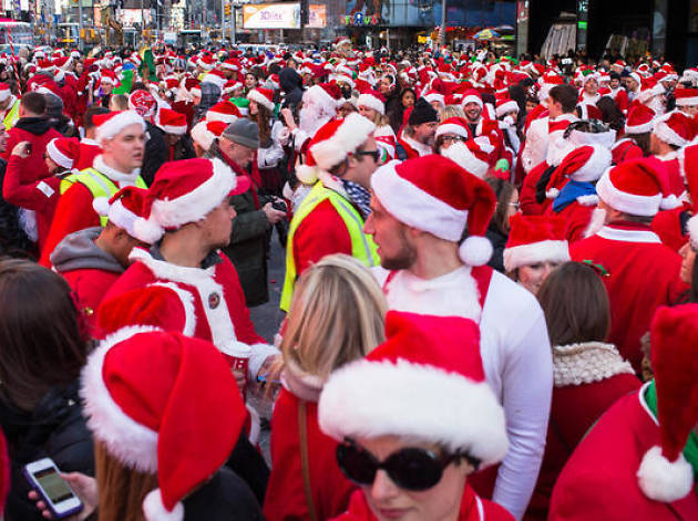 Map shows all the bars participating in SantaCon tomorrow