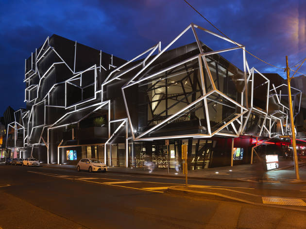 Southbank Theatre 2014 exterior at night courtesy Melbourne Theatre Company 2016 photographer credit Benjamin Healley