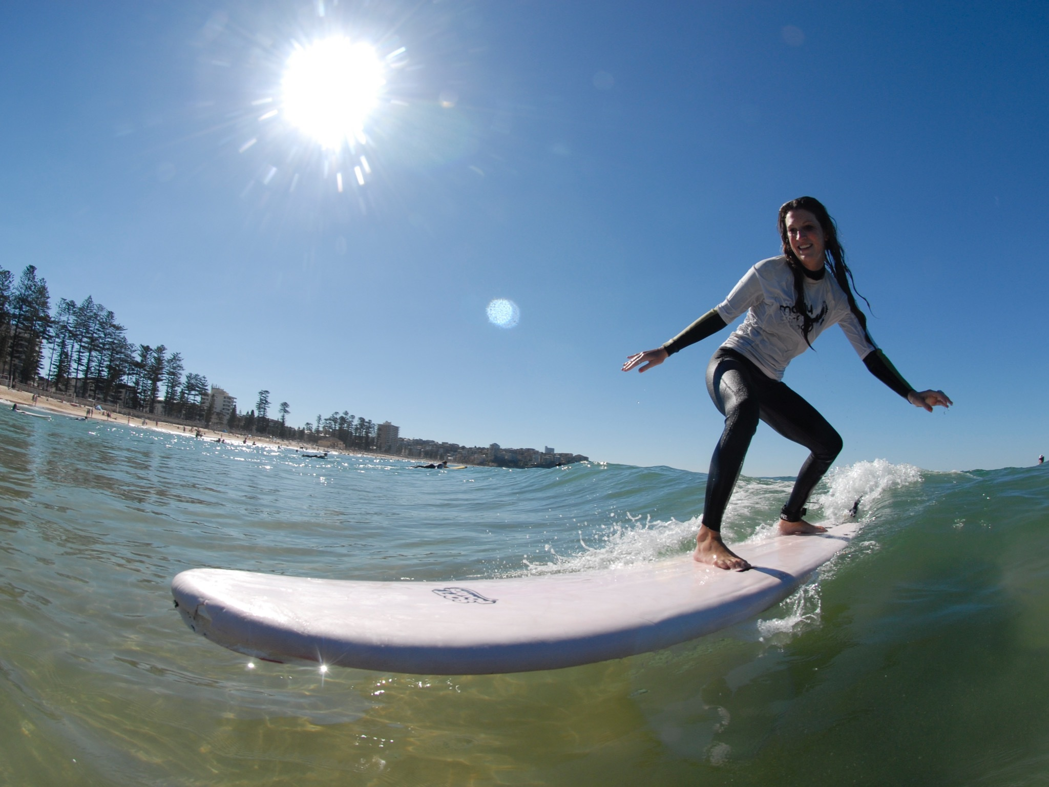 Woman at Manly Surf School