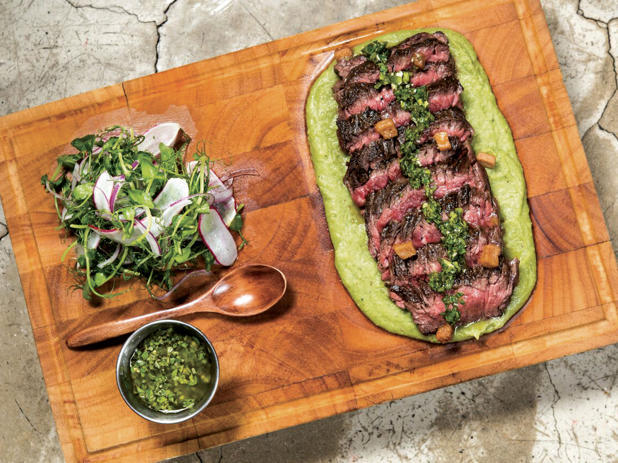 Lily & Bloom: Hickory smoked wild Hereford skirt steak