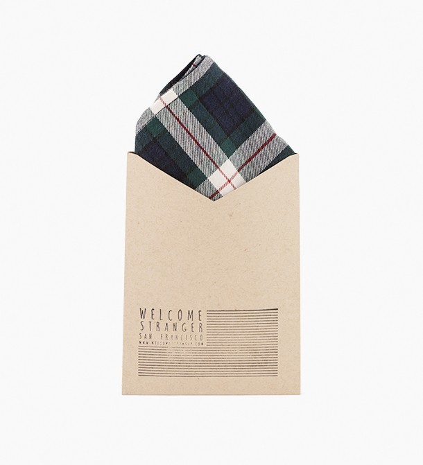 WS pocket square from Welcome Stranger, $29