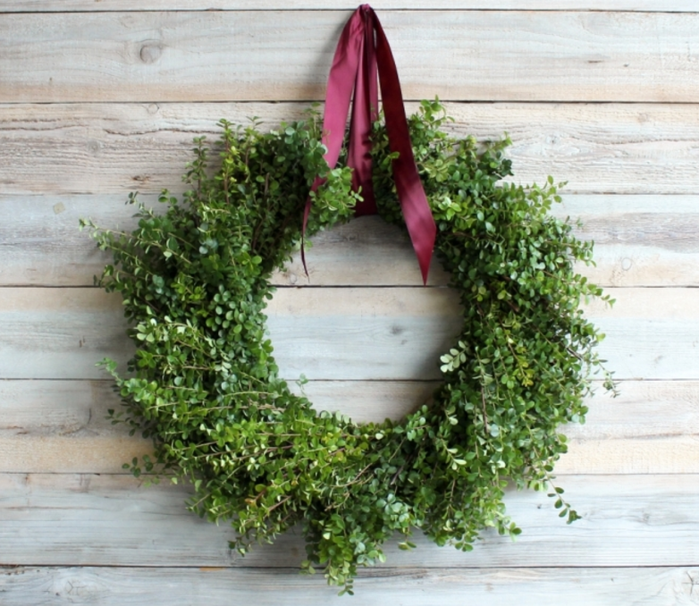 Walk in the Woods boxwood wreath from farm Girl Flowers, $65