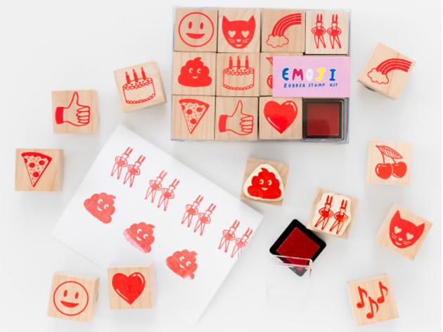 Emoji stamp set from Little Paper Planes, $20