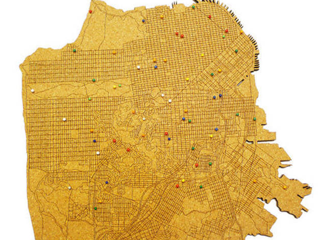 San Francisco cork map from the Museum of Craft and Design, $140