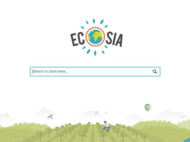 Ecosia home page