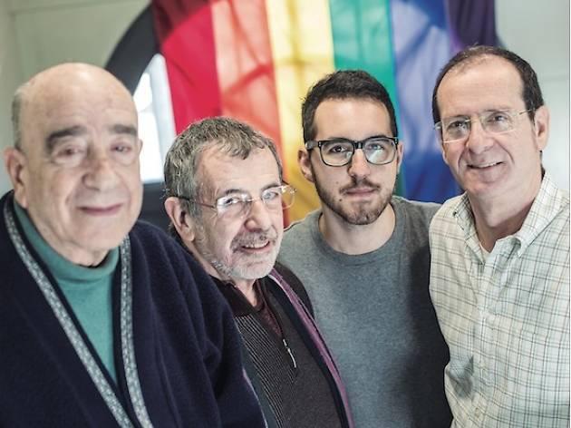 Armand de Fluvià, Emilio Ruiz, Sergi Cubell i Jordi Samsó, al Casal Lambda