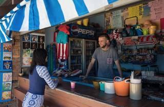 Camp Cove kiosk