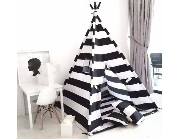 Striped children teepee play tent ($255)