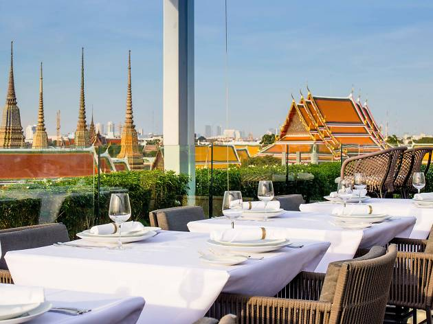 Above Riva, the new rooftop eatery on Riva Arun Hotel