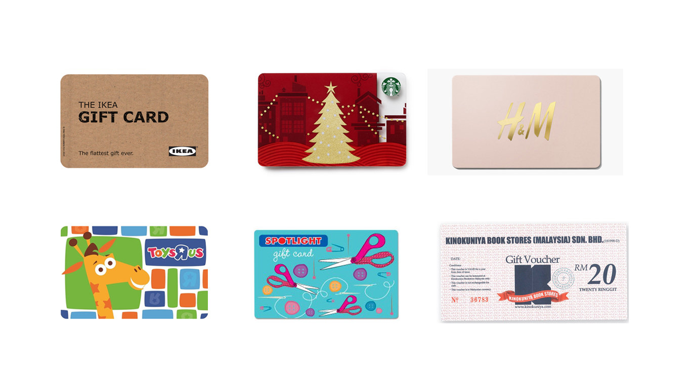 Christmas Gift Guide Gift Cards