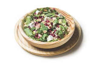 salada de rosbife, romã, cuscuz do RED