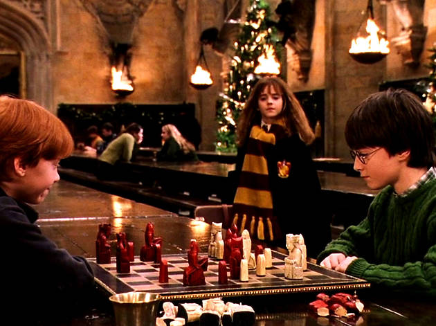 Harry Potter Christmas film still