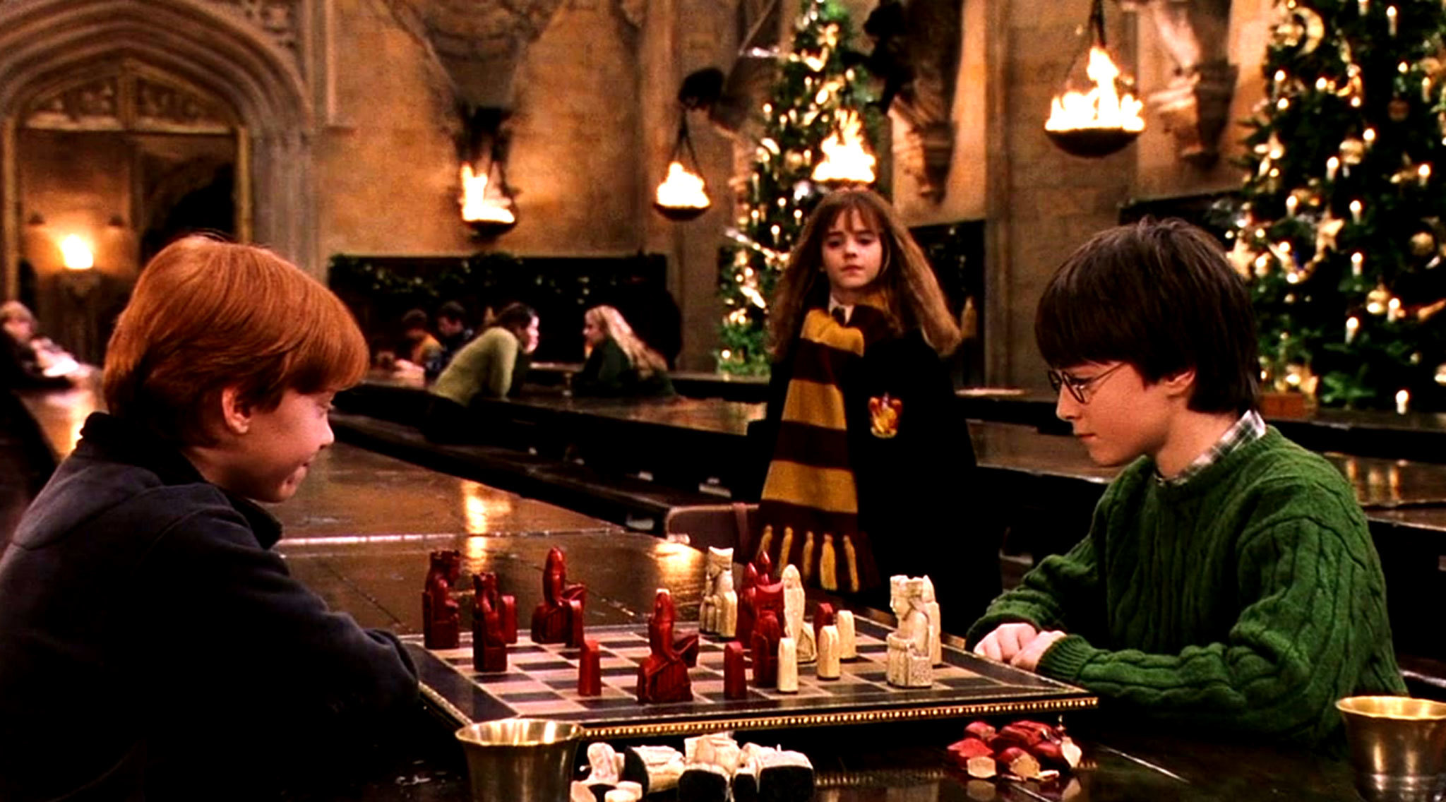 Harry Potter Christmas film still
