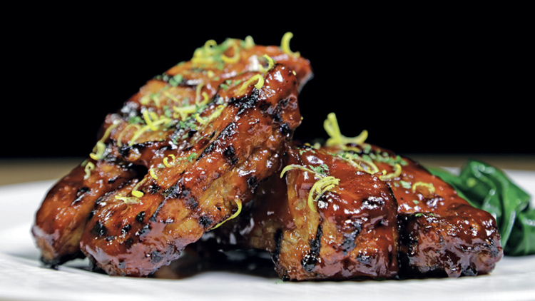 Stoked pork ribs
