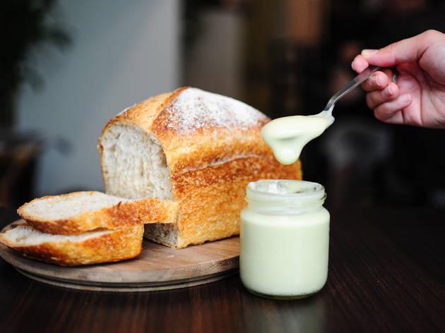 Li house-made kaya with sourdough bread