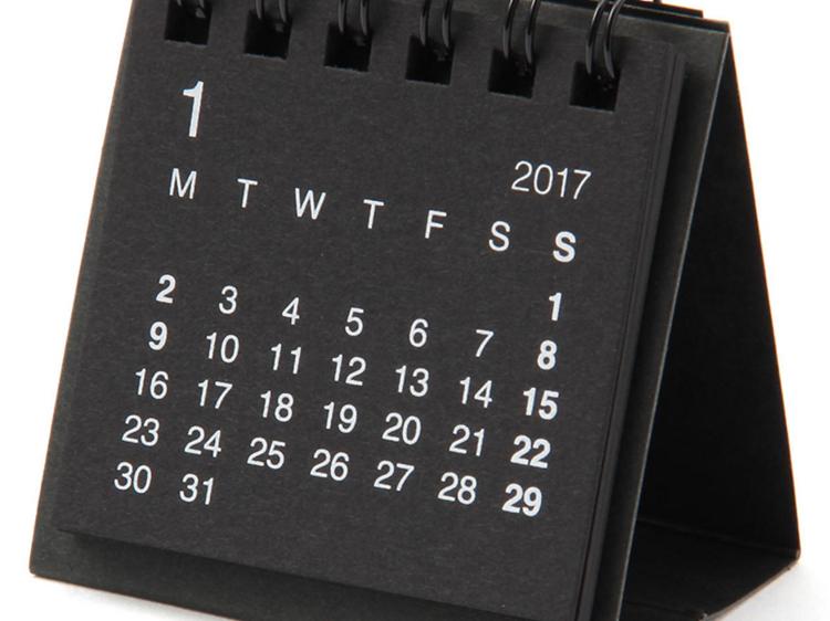Un calendari per a dates importants