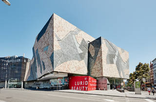 The Ian Potter Centre NGV Australia at Federation Square 2015 exterior photographer credit Brooke Holm