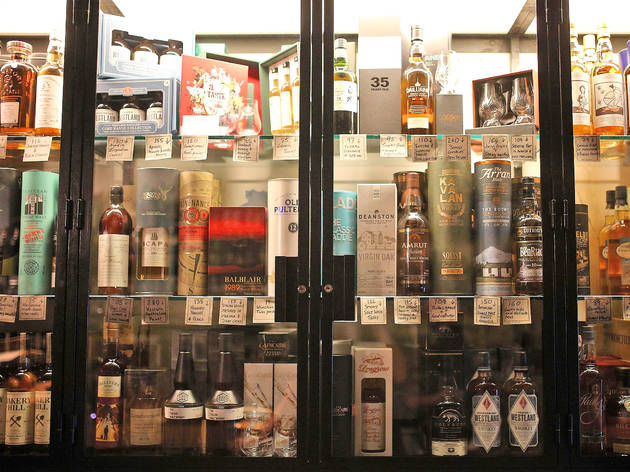 Whisky and Alement shelf