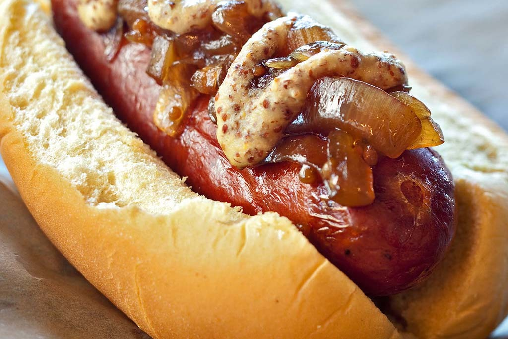 Smoked Douille Dog at Bayou Bakery, Coffee Bar & Eatery