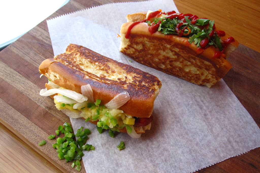 Banh Mi Dog at Haute Dogs & Fries