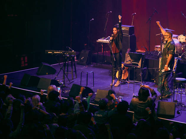 TV on the Radio led a night of beautiful music at the Fonda Theatre in support of Standing Rock