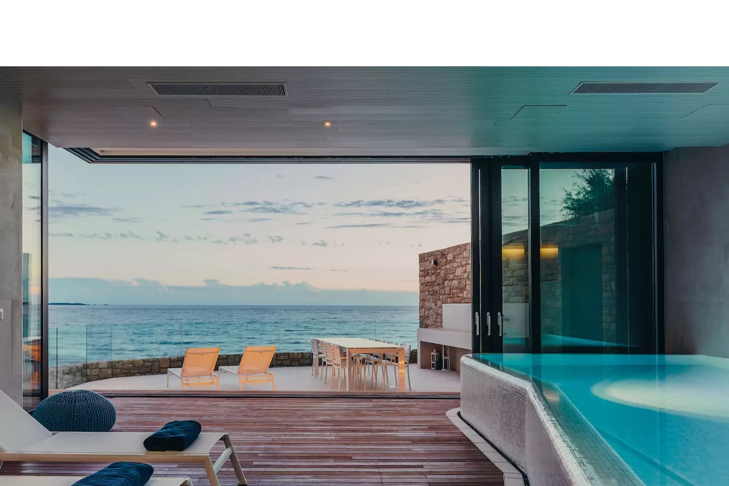 The luxury villa with its own infinity pool