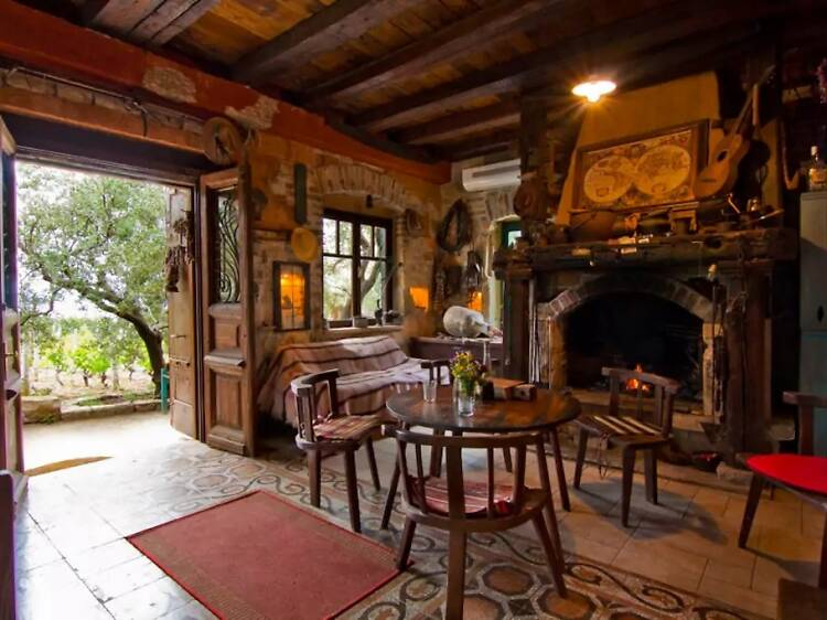 The spectacular hunting lodge