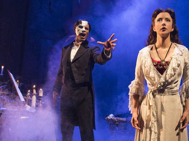 Derrick Davis and Katie Travis in The Phantom of the Opera touring company