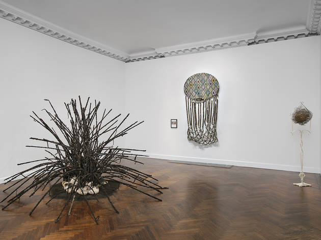 Installation view of David Hammons at Mnuchin Gallery, New York