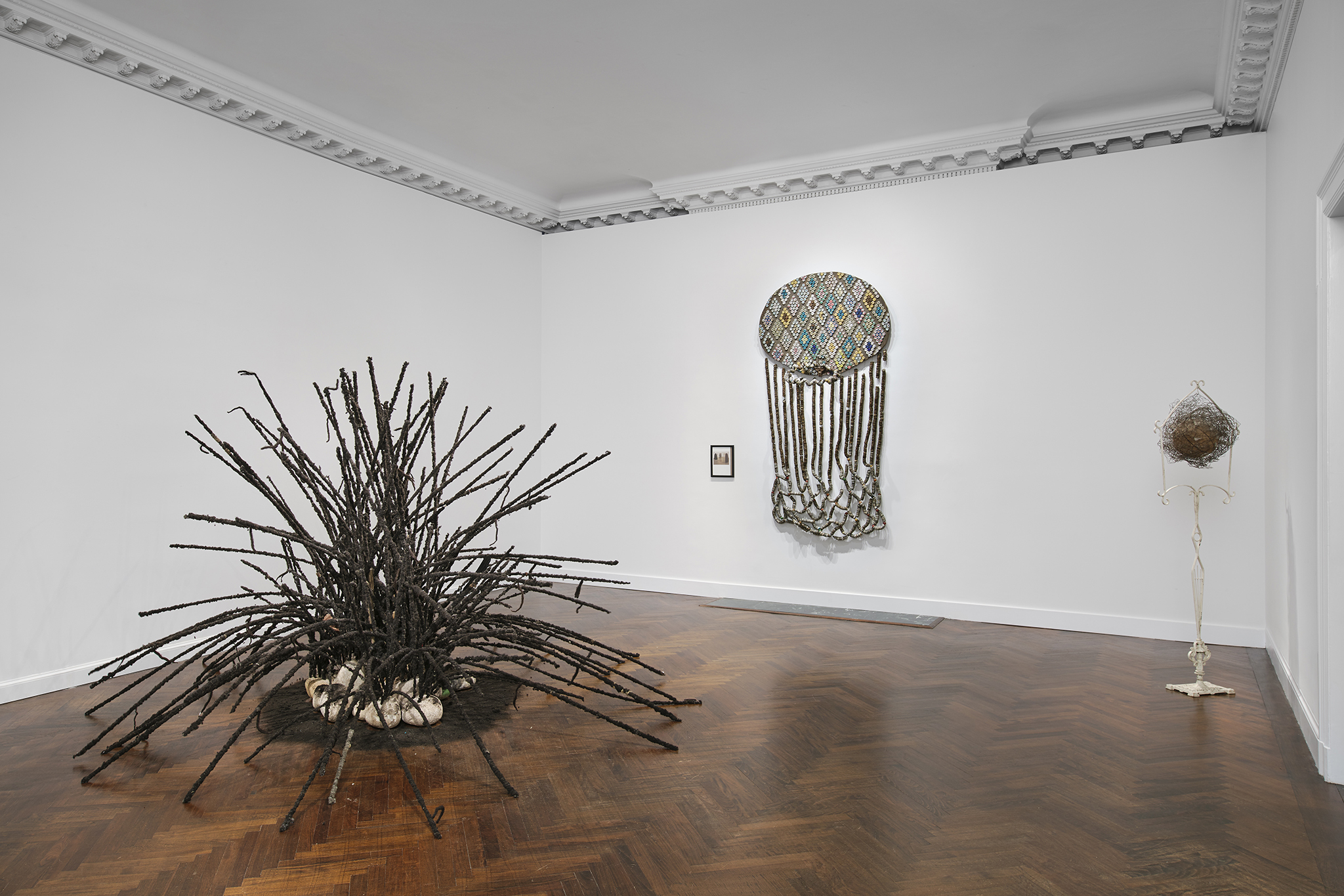 Installation view of David Hammons at Mnuchin Gallery, New York