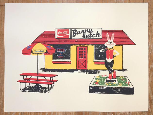 The Bunny Hutch print