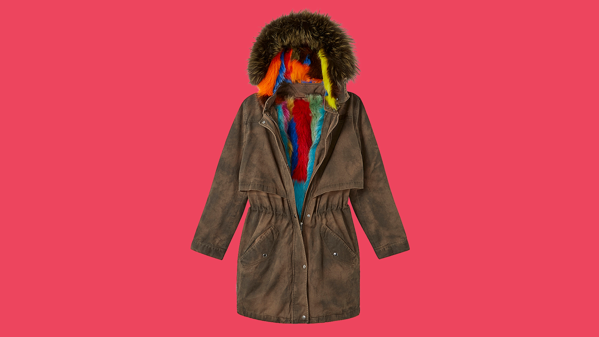 Fur-lined army coat from Rebecca Minkoff